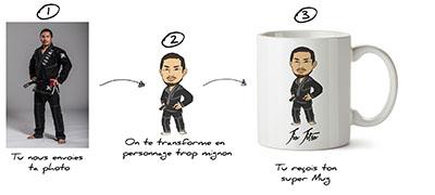 personnalisation d'un mug pour le jjb
