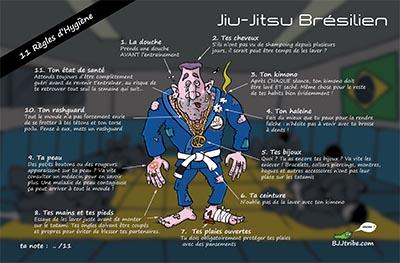 poster de jiu jitsu pour l'hygiène